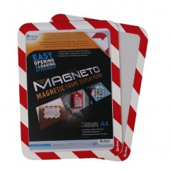 Tarifold 194973 cornice magnetica A4 Rosso, Bianco B194973