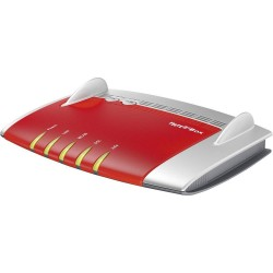AVM FRITZ Box 3490 International router wireless Dual band 2.4 GHz5 GHz Gigabit Ethernet Rosso, Argento 20002709