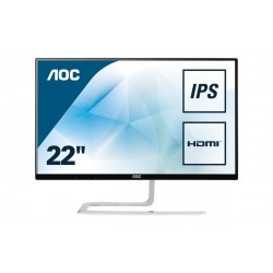 AOC Style line I2281FWH monitor piatto per PC 54,6 cm 21.5 Full HD LED Opaco Nero, Argento