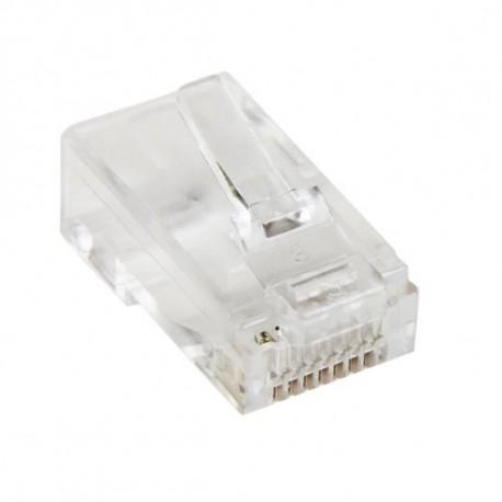 StarTech.com Connettore modulare a treccia RJ45 Cat5e Confezione da 50 CRJ4550PK