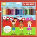 Stabilo 193077-01 pastello colorato 30 pezzoi Multi