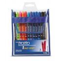 Tratto 1 Grip Nero, Blu, Ciano, Verde, Magenta, Arancione, Porpora, Rosso Twist retractable ballpoint pen 12 pezzoi 826800