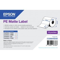 Epson PE Matte Label Die cut Roll 102mm x 76mm, 365 labels C33S045548