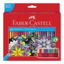 Faber-Castell Astuccio in cartone con 60 matite colorate eagonali permanenti Eco 111260
