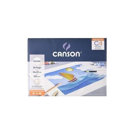 Canson POCHETTE C4 24X33CM 20FG RUVIDO