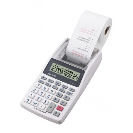 Image of Sharp EL-1611V calcolatrice Scrivania Calcolatrice finanziaria Grigio, Bianco SH-EL1611V