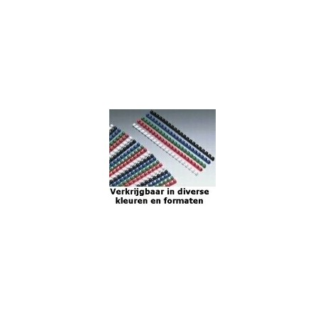 GBC Anelli plastici CombBind rossi 19 mm 100 4028661