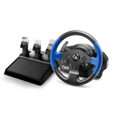 Image of Thrustmaster T150 PRO ForceFeedback Sterzo + Pedali PC,PlayStation 4,Playstation 3 USB Nero, Blu 4160696