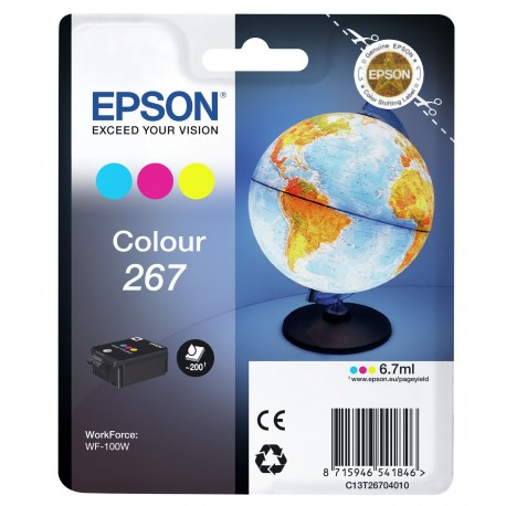 Epson Globe Singlepack Colour 267 ink cartridge C13T26704010