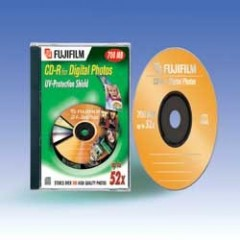 Fujifilm Confezione 10 CD-R Photo 700 MB 80 Min 52X JCASE Singolo 36087