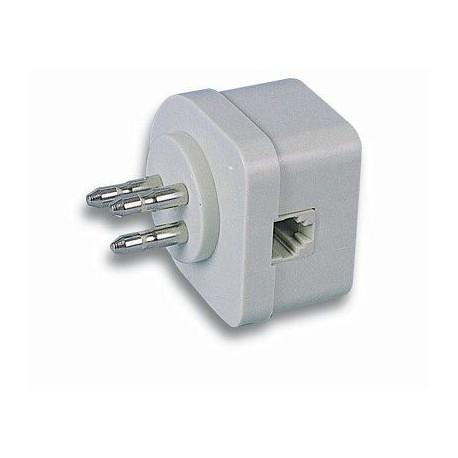 Intellinet Adattatore Tripolare Telefonica passante con Spina Modulare I-EDL 80