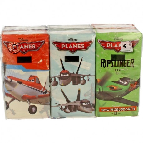 Worldcart PACK 6 PACCH. FAZZOLETTI PLANES WCPLANES